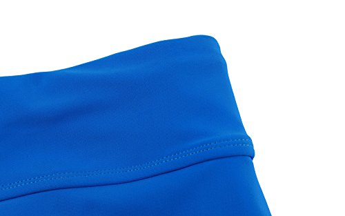 Itsmode Women's Sexy Solid Waistband Swim Skort Bikini Skirt Tankini Bottoms Juniors Swimsuits Blue Small Size by Itsmode (Image #3)