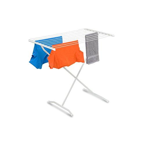 Honey-Can-Do DRY-01227 X-Frame Metal Folding Drying Rack, White