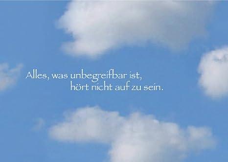 5er Set Beileidstrauer Klappkarten Mit Wolken Motiv Und