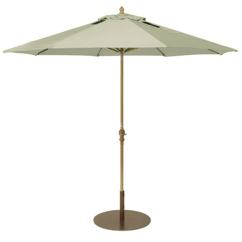 Patio Umbrella with 2 Built-In USB Ports, 9-Feet