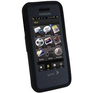 Samsung Instinct Silicone Case (Amzer Silicone Skin Jelly Case for Samsung Instinct SPH-M800 - Jet Black)