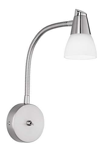 Reality Hilton Focos y lámparas de pinza G9, 40 W, Níquel Mate, 35 x 8 cm