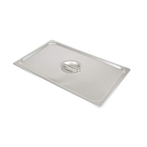 (Update International STP-100CHC S/Steam Table Pan Cover, Full Size Notched, 18-8 Stainless Steel AISI-304)