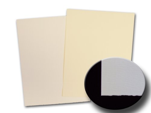 Neenah Teton Deckle Edge Tiara (White) 80# Cover 8.5x11 - 25 Sheets