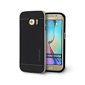 DD 20150511 2 in 1 Big Hornet Protetive Bumper Case with Screen Protector for Samsung Galaxy S6 edge(Assorted Colors) , Red
