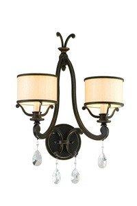 - Corbett 86-12, Roma Candle Crystal Wall Sconce Lighting, 2 Light, 40 Watts, Classic Bronze