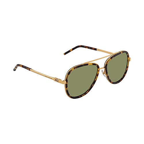 (Marc Jacobs Women's Marc136s Aviator Sunglasses, SPOTTED HAVANA/GREEN, 56 mm)