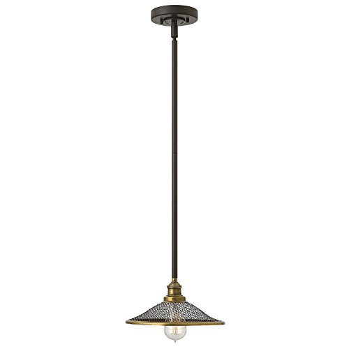 Hinkley 4367KZ Americana One Light Pendant from Rigby collection in Two-Tonefinish,