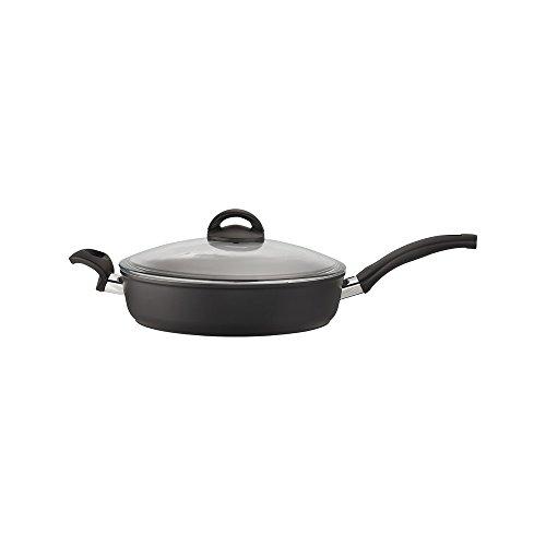 Ballarini 75001-628 Como Forged Aluminum Nonstick Saute Pan with Lid, 3.8-quart, Black