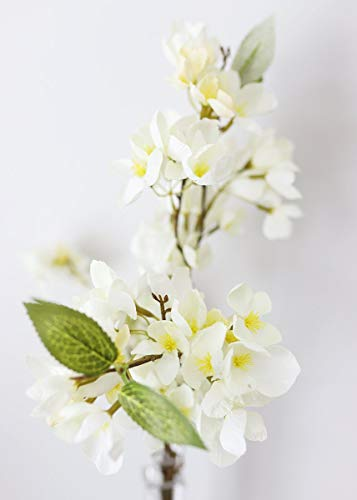 Floral Home Cream Artificial Spring Apple Blossom Branch - 25