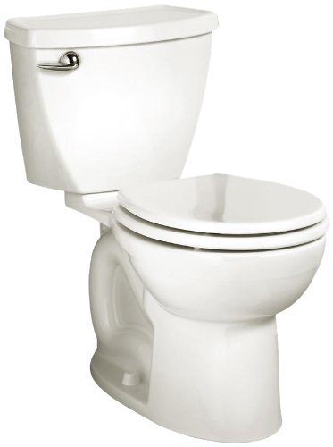 det 3 Round Front Flowise Two-Piece High Efficiency Toilet with 12-Inch Rough-In, White White (Cadet 3 Flowise Tank)