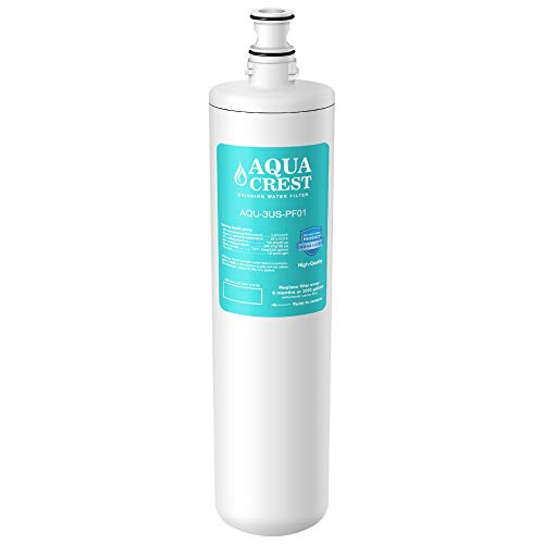 AQUA CREST 3US-PF01 Under Sink Water Filter, Compatible with Filtrete Advanced 3US-PF01, 3US-MAX-F01H, 3US-PF01H, Delta RP78702, Manitowoc K-00337, K-00338 Water Filter
