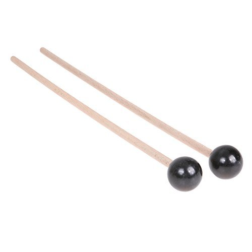 Domybest Professional Xylophone Marimba Mallets Maple Wooden Handle Rubber Mallets