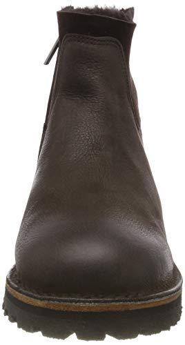 3037 Plisadas Brown Amsterdam Botas Mujer dark Para Shabbies Braun Shs0289 xBzAT