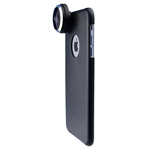 Apexel 235 Degree Super Fisheye/ Fish Eye Lens with Back Cover Case for iPhone 6 Plus