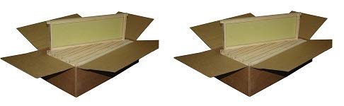Mann Lake Ww926 10-Pack Assembled Commercial Frames With Waxed Natural Rite-Cell