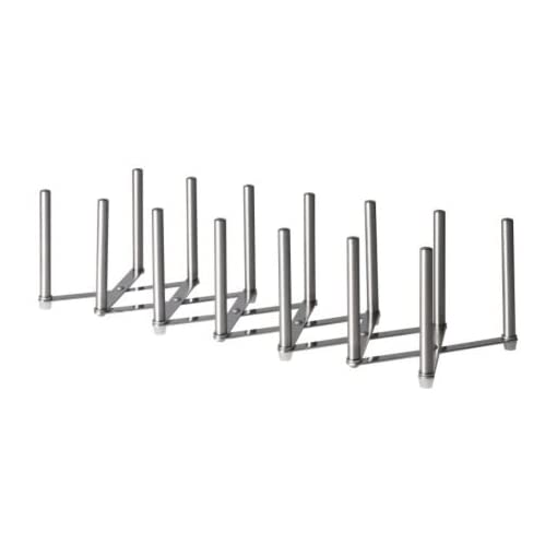 Kitchen Ikea VARIERA Pot Lid Organizer, Stainless Steel pot lid holders