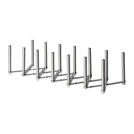 IKEA VARIERA - Soporte para tapas, acero inoxidable