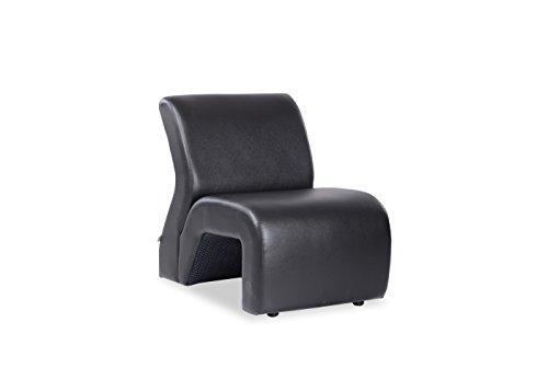 Durian Bid Leatherette Single Seater Sofa  Black