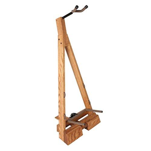String Swing CC22 Folding Hardwood Guitar Floor Stand (Ash Wood Guitar)