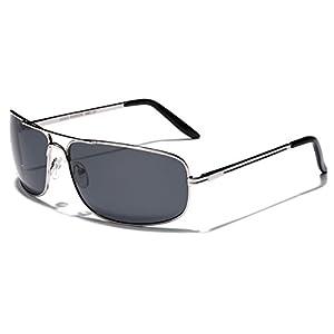 L/XL Wide Frame Mens Polarized Fishing Golf Aviator Style Sunglasses