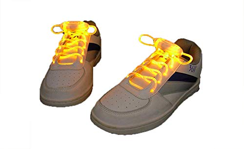 """3 Mode Plastic 31"""" Free Size LED Shoelace Light Up Shoe Laces, Glowing Shoe Straps for Adult & Kid, Glitter Shoe String"""