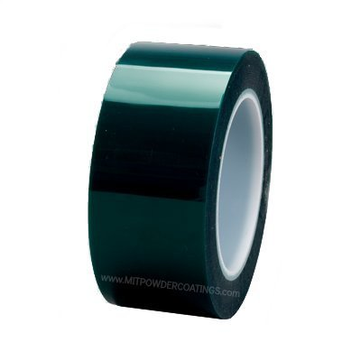 3M High Temp Polyester Powder Coating Masking Tape 8992 Green, 2 in X 72 yd (5 rolls) by 3M