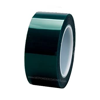 High Temp Powder Coating Green Polyester Silicone Masking Tape 1 inch x 72 yds