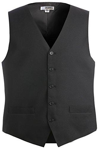 Ed Garments Men's Textured Weave Fully Lined Economy Vest, BLACK, XX-Large