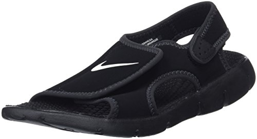 Nike Kids Unisex Sunray Adjust 4 (Infant/Toddler) Black/White/Anthracite Sandal 4 Toddler M by NIKE