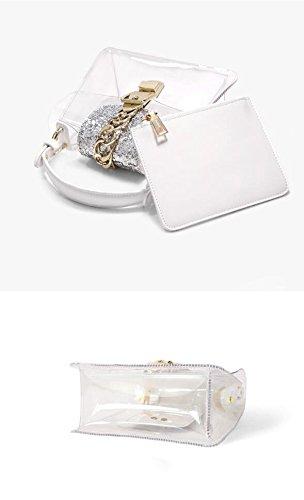 Sac Gelée Sac Main Épaule Fille Lady White Sac Mini D'été Poignée Messenger Sac Transparent Top Fée À SAqxqg