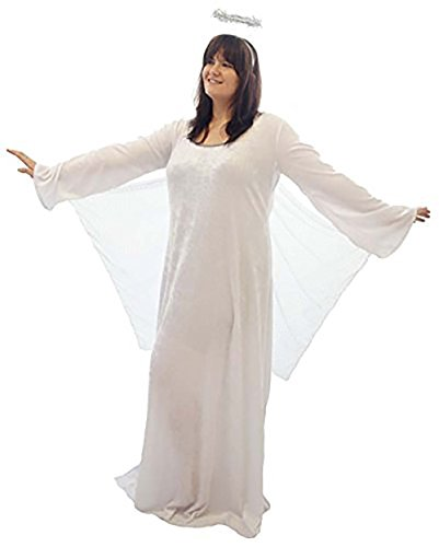 Angel Fancy Dress Costume Uk (CL COSTUMES Nativity-Christmas-Gabriel Arch Angel Ladies's Fancy Dress Costume – All Ladies Sizes (UK 28-30))
