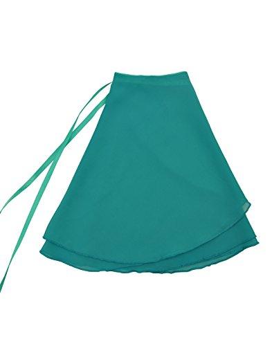 - Nawty Fox Light Teal Adult Sheer Chiffon Wrap Skirt