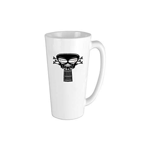 Guitar Riff with a Skull Passionate Music Heavy Tunes Funny Coffee Mug Cool Coffee Tea Cup 16oz Perfect Gift for Family and Friend ()