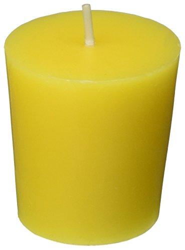 Zest Candle 12-Piece Votive Candles, Yellow Citronella