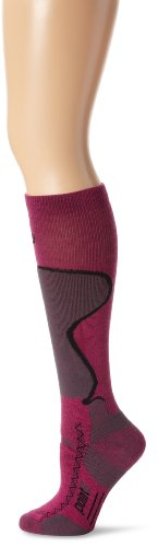 point6 Men's Ski Medium Over The Calf Socks, Fuchsia, Medium