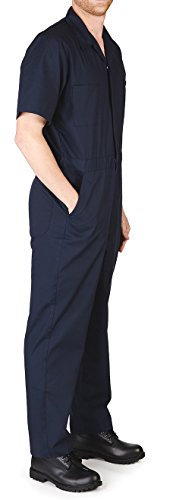Norty M&M - Mens Short Sleeve Coverall, Dark Navy Blue 39049-X-Large