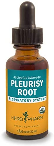 Herb Pharm Certified Organic Pleurisy Root Liquid Extract for Respiratory System Support – 1 Ounce