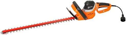 GARCARE 4.8-Amp Corded Hedge Trimmer with Rotating Handle and 24 Dual Cutting Laser Blade, Blade Cover