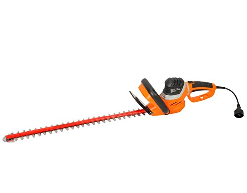 GARCARE 4.8-Amp Corded Hedge Trimmer with Rotating Handle and 24″ Dual Cutting Laser Blade, Blade Cover
