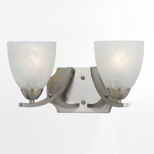(Triarch 33290/2 2 Light Value Bathroom Light, Satin Nickel)