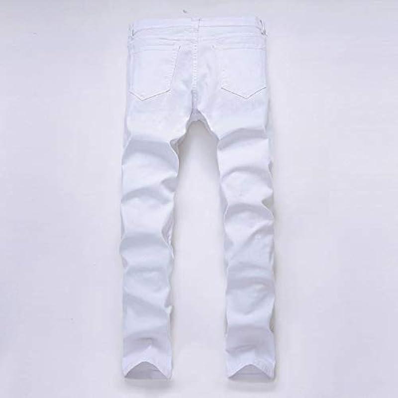 MONDHAUS Męskie Jeanshosen Pants Freizeit Original Straight Jeans Regular Fit Jeanshose Fitness Männer Slim fit Jeans Hose Stylisch Cotton Hose Hochwertige Slim fit Revend Sweathose Skinny Chino Hose: Odzież
