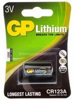 Replacement For CR123A-C1 GP 3V LITHIUM 123 1PK CARDED Battery 10 PACK by Technical Precision