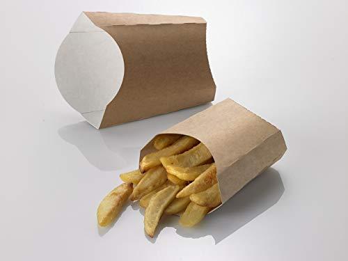 (Leone Street Food Chip Box, Dimension 10.5 x 10.5 x 5.5 cm, Light Brown,)