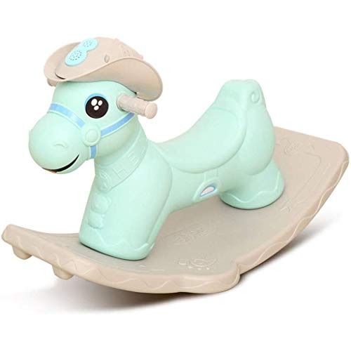 SCDXJ Child Rocking Horse Rocker Plastic Toy Toddler Rocking Chair Children's Toys Balance Training Suitable for Babies Over 6 Months Toy Gift (Color : A)