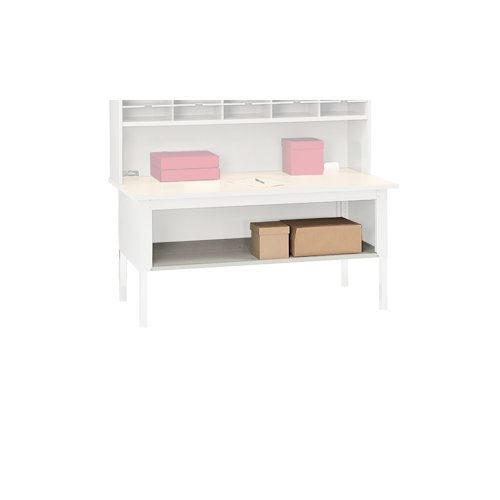 Mailroom Sorting Table - Mayline SLF60PG Mailroom System Table Shelf for Sorting Table mlntb60pg, 60w x30D x3h