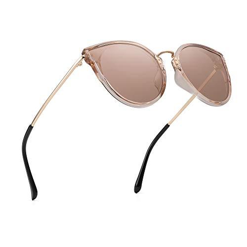 PANNER Polarized Oversized Cat Eye Fashion Sunglasses for Women 100% UV400 ()