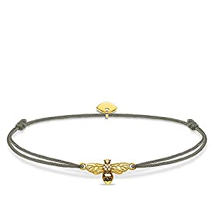 Thomas Sabo ladies-bracelet Little Secret bee 925 Sterling silver yellow gold plating LS081-379-7-L20v