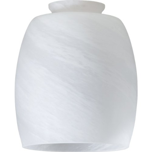 Faux Alabaster Barrel Glass Shade for Ceiling Fan Light - Alabaster Faux