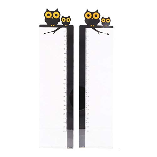Pack of 2 Left & Right Cartoon Computer Monitors Side Panel/Memo Pads/Sticky Boards/Message Board/Notes Holder for Computer Screen(Owl)